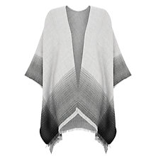 Buy John Lewis Cashmink Ruana Border Cape, Grey Online at johnlewis.com