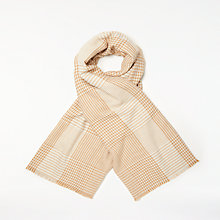Buy John Lewis Cashmink  Dogstooth Wrap, Camel Online at johnlewis.com