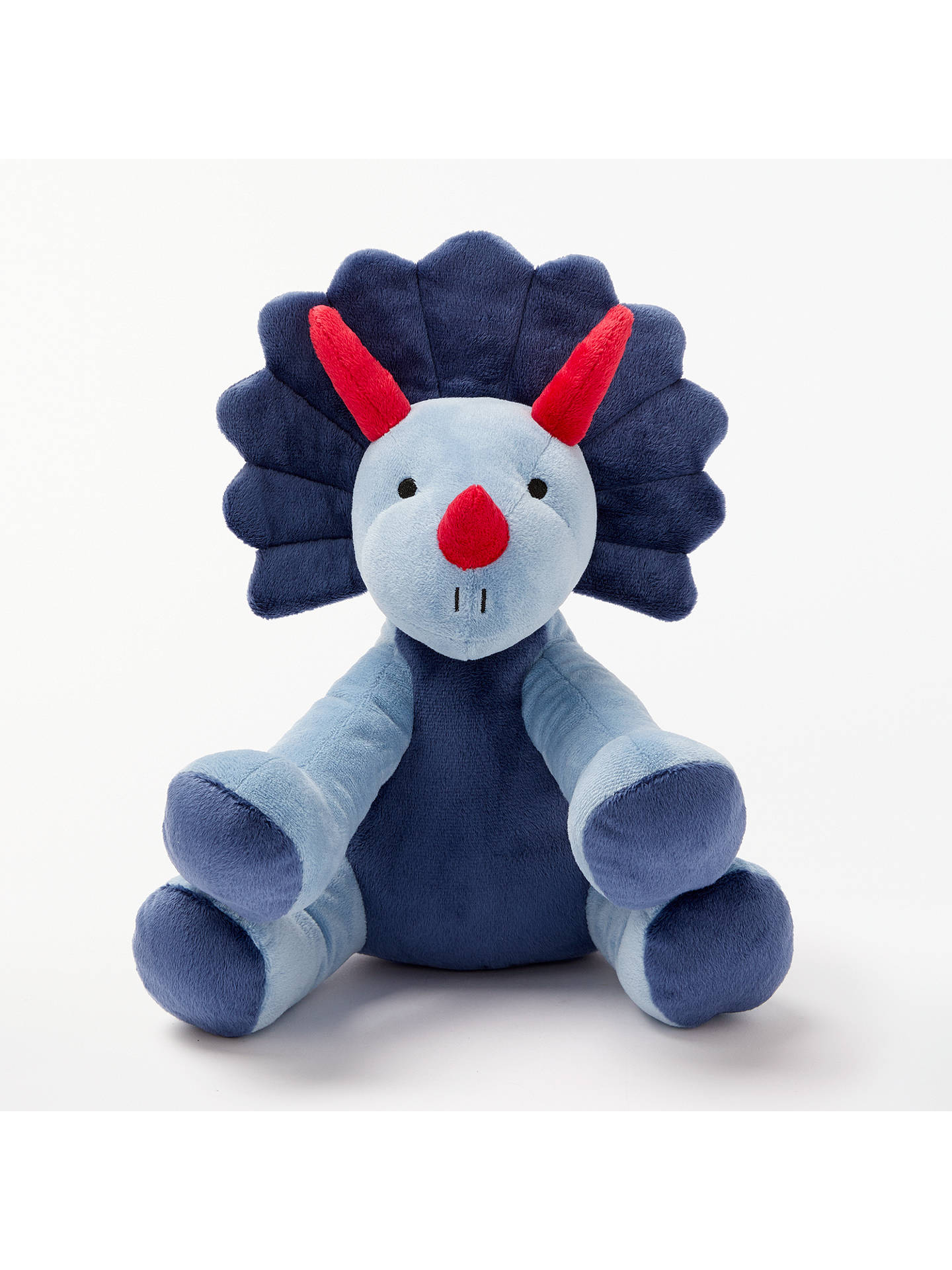 John Lewis  Partners Triceratops Dinosaur Plush Soft Toy, Blue At John Lewis  Partners