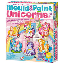 Buy Make Your Own Glitter Mould And Paint Unicorns Online at johnlewis.com