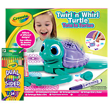Buy Crayola Twirl 'N Whirl Turtle Pack Online at johnlewis.com