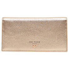 Buy Ted Baker Simoni Bow Leather Matinee Purse, Rose Gold Online at johnlewis.com