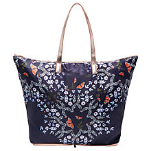 Buy Ted Baker Wilford Kyoto Gardens Fold Shopper Bag, Mid Blue Online at johnlewis.com