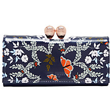 Buy Ted Baker Milissa Kyoto Garden Leather Matinee Purse, Mid Blue Online at johnlewis.com