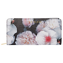 Buy Ted Baker Janeva Chelsea Grey Leather Matinee Purse, Black Online at johnlewis.com