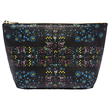 Buy Ted Baker Aurea Unity Floral Wash Bag, Black Online at johnlewis.com