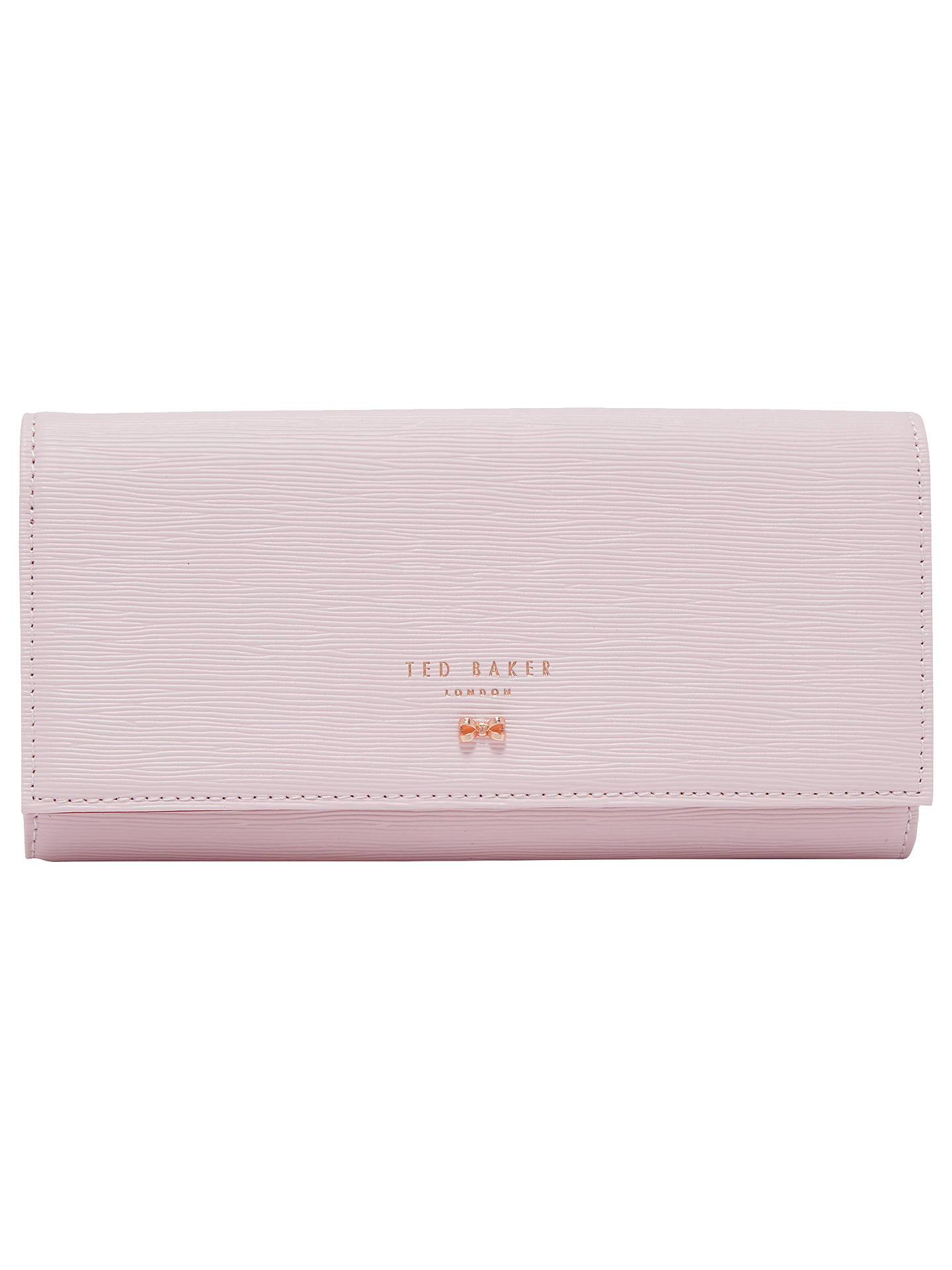d367db76a Buy Ted Baker Pansie Bow Leather Matinee Purse, Dusky Pink Online at  johnlewis.com ...