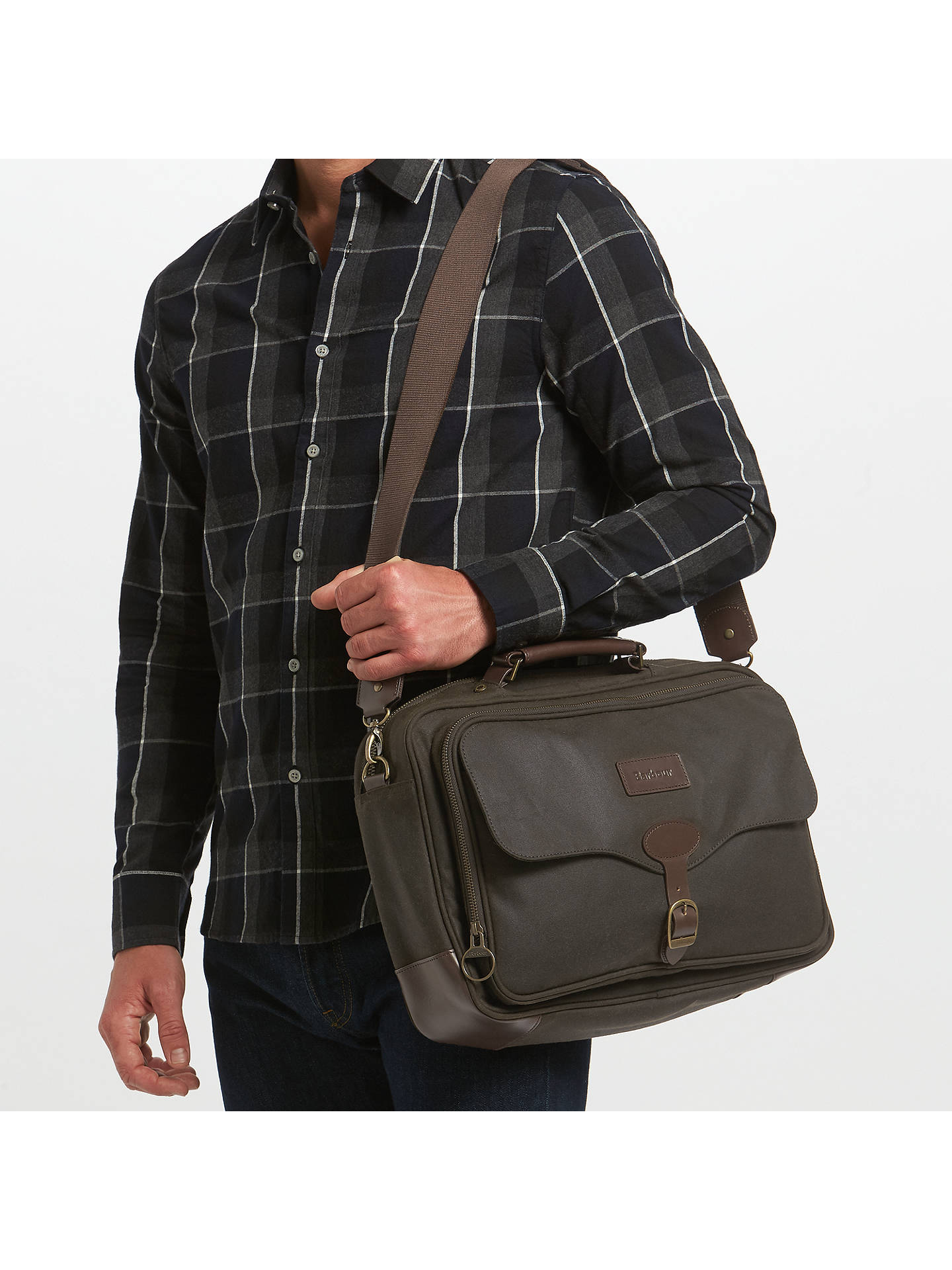 66d66599a4a2 Buy Barbour Land Rover Defender Waxed Cotton Briefcase
