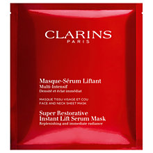 Buy Clarins Super Restorative Instant Lift Serum Mask, x 5 Online at johnlewis.com