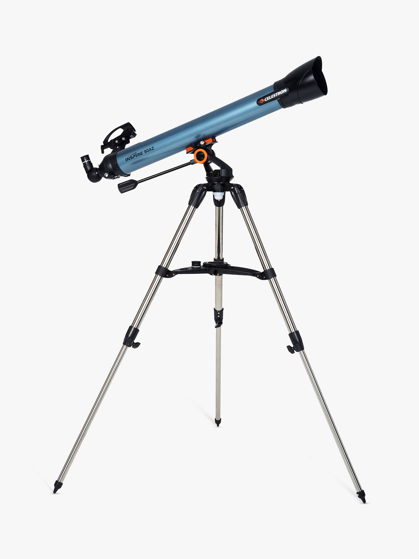 BuyCelestron Inspire 80AZ Refractor Telescope with Smart Phone Adapter Online at johnlewis.com