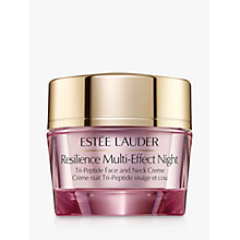 Buy Estée Lauder Resilience Lift Night Firming Face and Neck Creme, 50ml Online at johnlewis.com