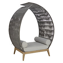 Buy John Lewis Leia Outdoor Alcove Seat, FSC-certified (Eucalyptus), Natural/Grey Online at johnlewis.com