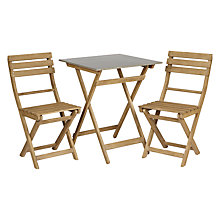 Buy John Lewis Croft Collection Islay Outdoor Bistro Table and 2 Chair Set, FSC Certified Online at johnlewis.com
