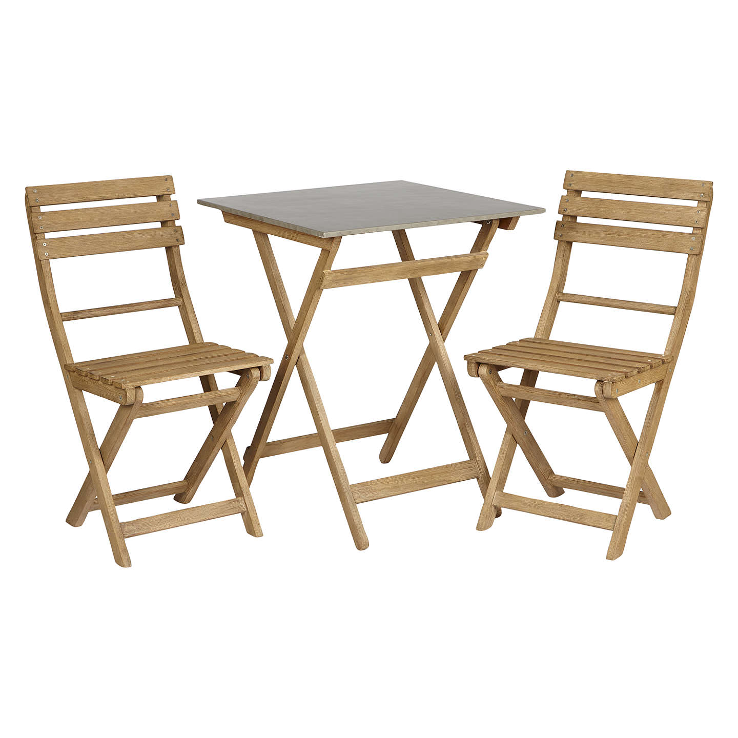 Croft Collection Islay Garden Bistro Table and 2 Chair Set, FSC ...