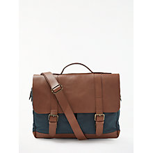 Buy JOHN LEWIS & Co. Canvas Satchel, Brown Online at johnlewis.com