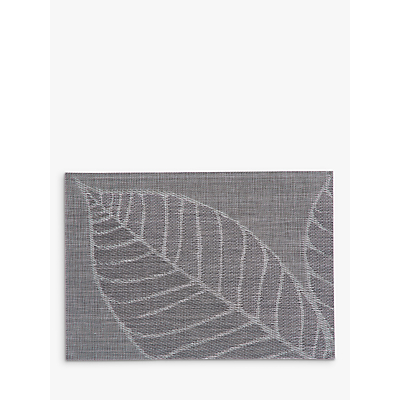 John Lewis & Partners Polypropylene Leaf Placemats, Grey, Set of 4