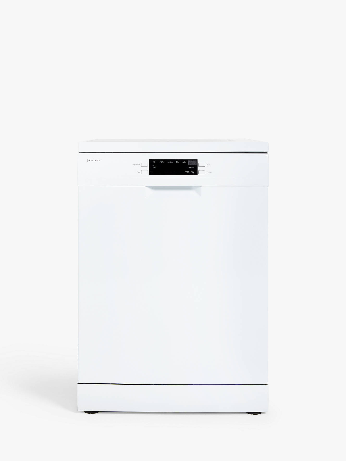 John Lewis & Partners JLDWW1327 Freestanding Dishwasher, White at ...