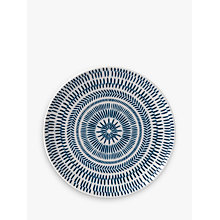 Buy ED Ellen DeGeneres for Royal Doulton Chevron Plate, Cobalt, Dia.21cm Online at johnlewis.com