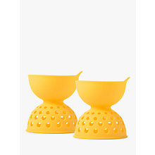 Buy OXO Good Grips Silicone Egg Poachers, Yellow, Set of 2 Online at johnlewis.com