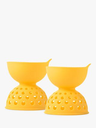 OXO Good Grips Silicone Egg Poachers, Yellow, Set of 2