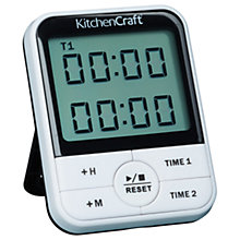 Buy Kitchen Craft Dual Event Digital Timer Online at johnlewis.com