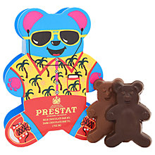 Buy Prestat Chocolate Holidaying Bears, Box of 2, 50g Online at johnlewis.com