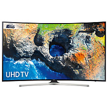 "Buy Samsung UE49MU6220 Curved HDR 4K Ultra HD Smart TV, 49"" with TVPlus, Black Online at johnlewis.com"