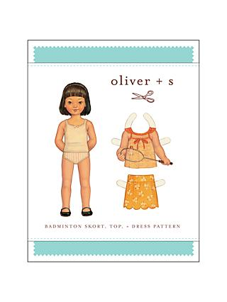Oliver + S Children's Badminton Skort And Dress Sewing Pattern