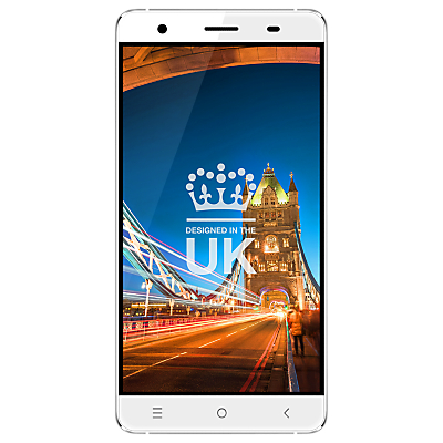 STK Hero X Smartphone, Android, 5, 4G LTE, SIM Free, 16GB, White
