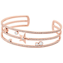 Buy Michael Kors Brilliance Star Studded Open Cuff Bangle, Rose Gold Online at johnlewis.com