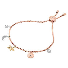 Buy Michael Kors Charm Bracelet, Rose Gold/Multi Online at johnlewis.com