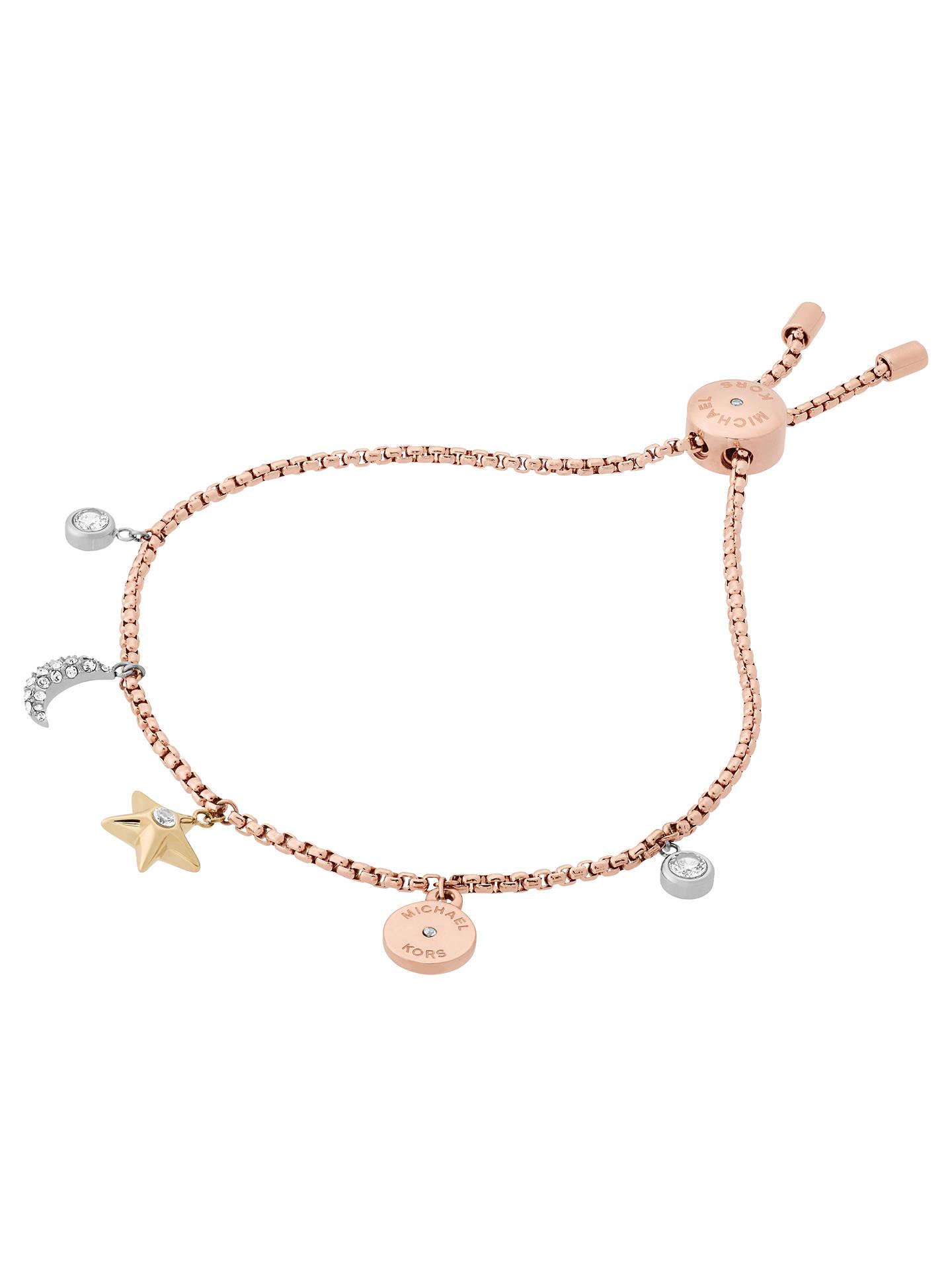 ecc862a958d6c Michael Kors Charm Bracelet, Rose Gold/Multi at John Lewis & Partners
