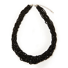 Buy John Lewis Sparkle Bead Twist Statement Necklace, Black Online at johnlewis.com