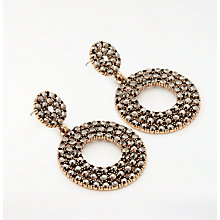 Buy John Lewis Sparkle Circle Drop Earrings, Rose Gold/Black Online at johnlewis.com