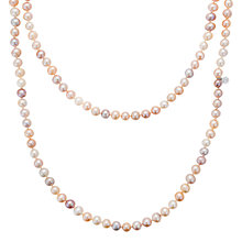 Buy Claudia Bradby Long Freshwater Pearl Rope Necklace, Pink Online at johnlewis.com