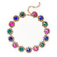 Buy John Lewis Antique Glass Stone Statement Necklace, Multi Online at johnlewis.com