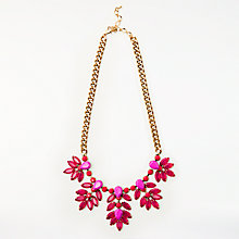 Buy John Lewis Statement Flower Cluster Necklace, Fuchsia Online at johnlewis.com
