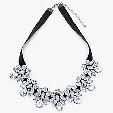 Buy John Lewis Crystal Statement Necklace, Black/Silver Online at johnlewis.com