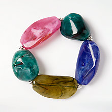 Buy John Lewis Statement Bead Stretch Bracelet, Multi Online at johnlewis.com