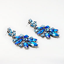 Buy John Lewis Statement Drop Earrings, Electric Blue Online at johnlewis.com