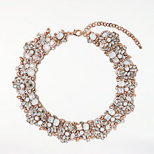 Buy John Lewis Irri Statement Necklace, Rose Gold/Green Online at johnlewis.com