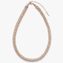 Buy John Lewis Cubic Zirconia Collar Statement Necklace, Rose Gold Online at johnlewis.com