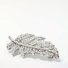 Buy John Lewis Sparkle Feather Brooch, Silver Online at johnlewis.com