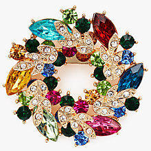 Buy John Lewis Colourful Wreath Dimonte Brooch, Multi Online at johnlewis.com