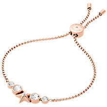 Buy Michael Kors Star Rope Cord Adjustable Slider Bracelet, Rose Gold Online at johnlewis.com
