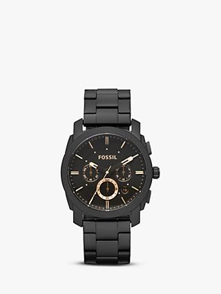 Fossil FS4682 Men's Machine Chronograph Bracelet Strap Watch, Black