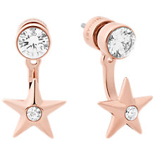 Buy Michael Kors Star Drop Post Jacket Earrings, Rose Gold Online at johnlewis.com