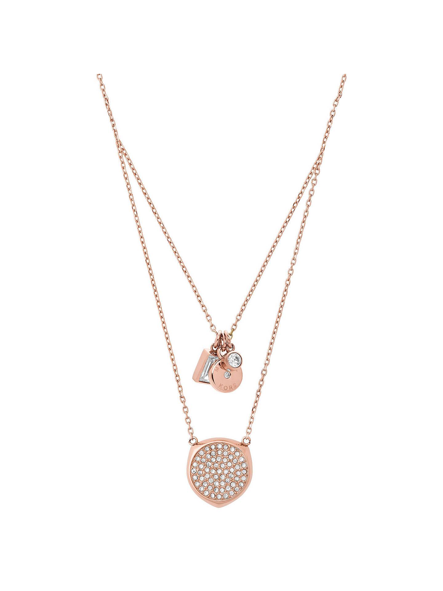 BuyMichael Kors V Drop Cubic Zirconia Charm Pendant Necklace 248f8efddf3e