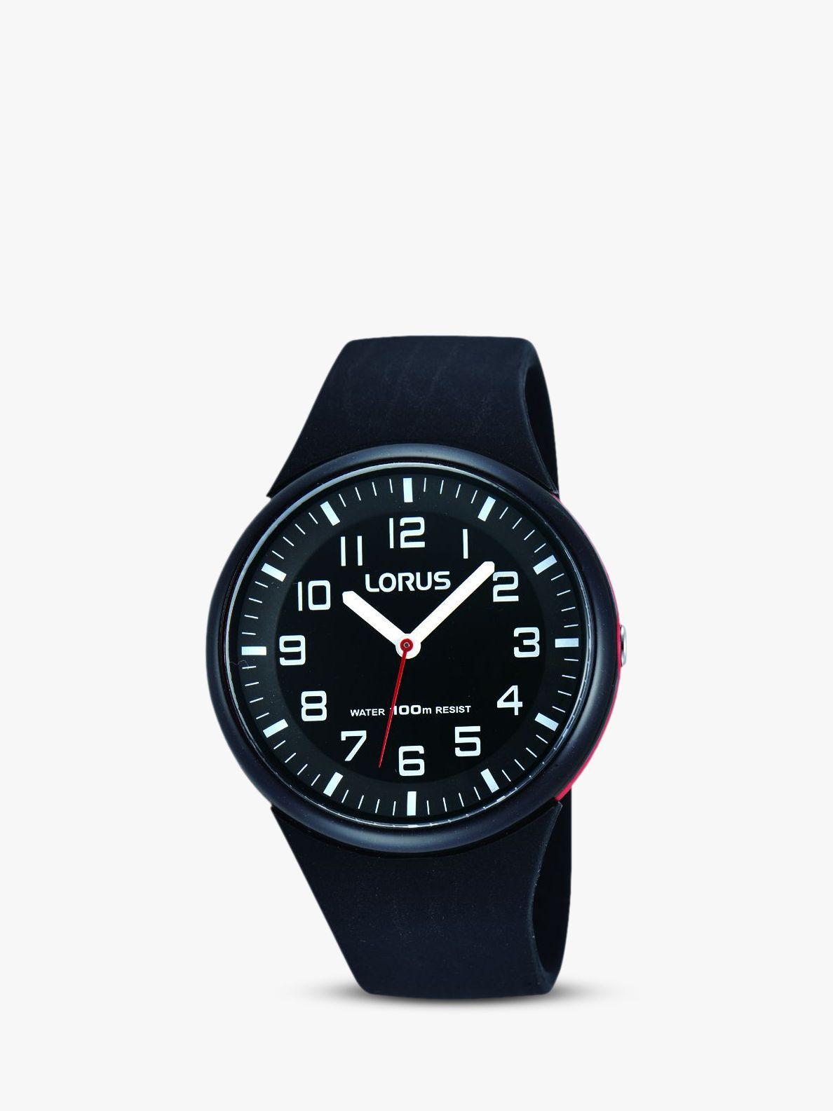 Lorus Lorus RRX47DX9 Children's Silicone Strap Watch, Black
