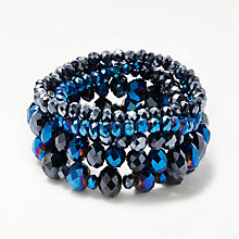 Buy John Lewis Multi Stretch Bracelet, Blue Online at johnlewis.com